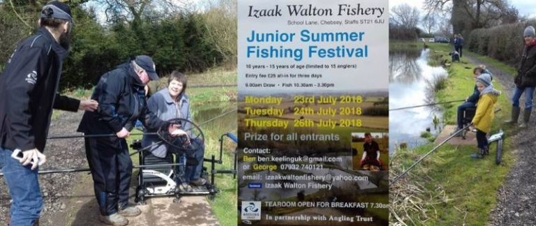 Community fishing events coaching Staffordshire