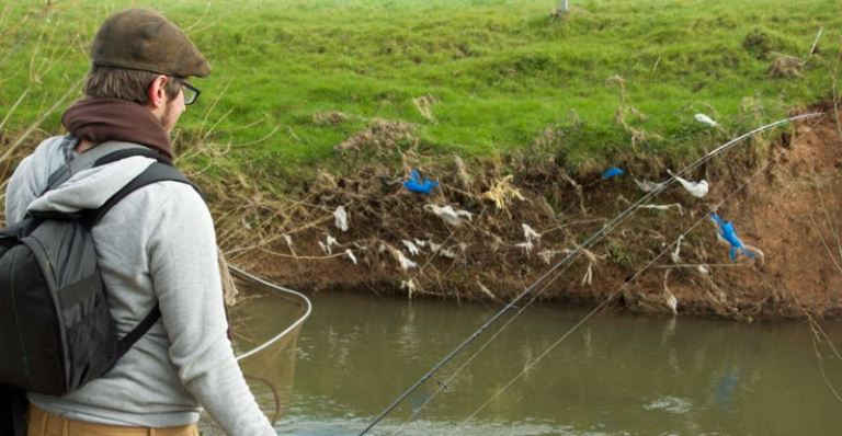 Angling and plastic pollution