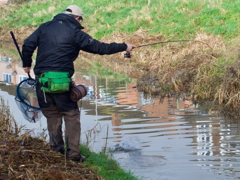 Lure fishing for pike and perch South West England UK