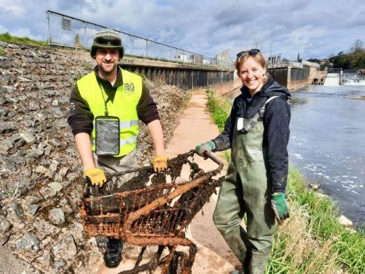 Anglers Against Litter Dom Garnett Emily Smith Angling Trust