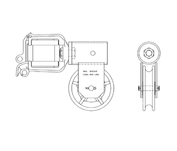 Combination Swivel Wire Holder/Sheave for ALTEC® trucks