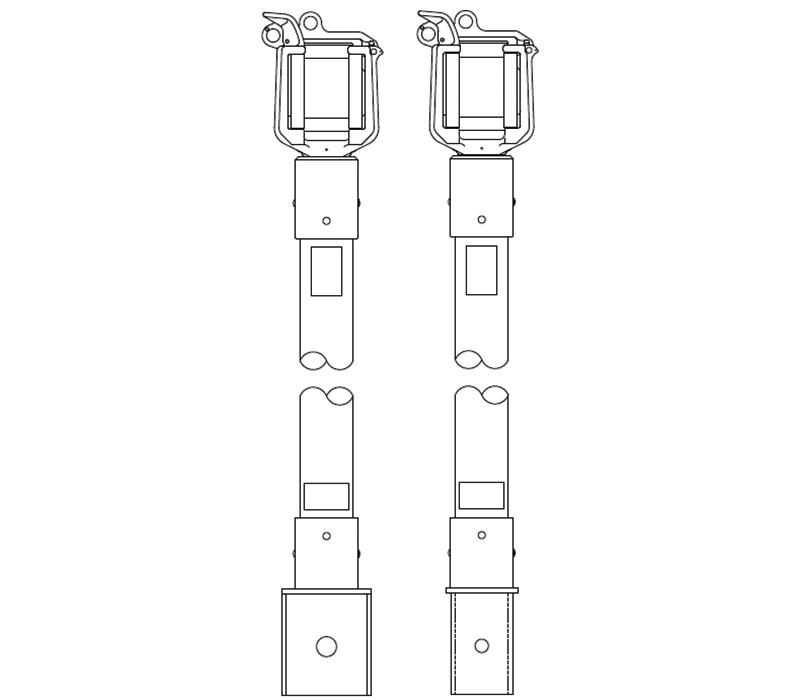 Swivel Wireholder Jib Extensions for Telelect trucks
