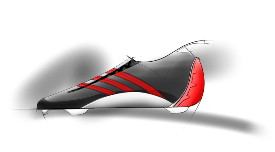 sketch of a soccer cleat