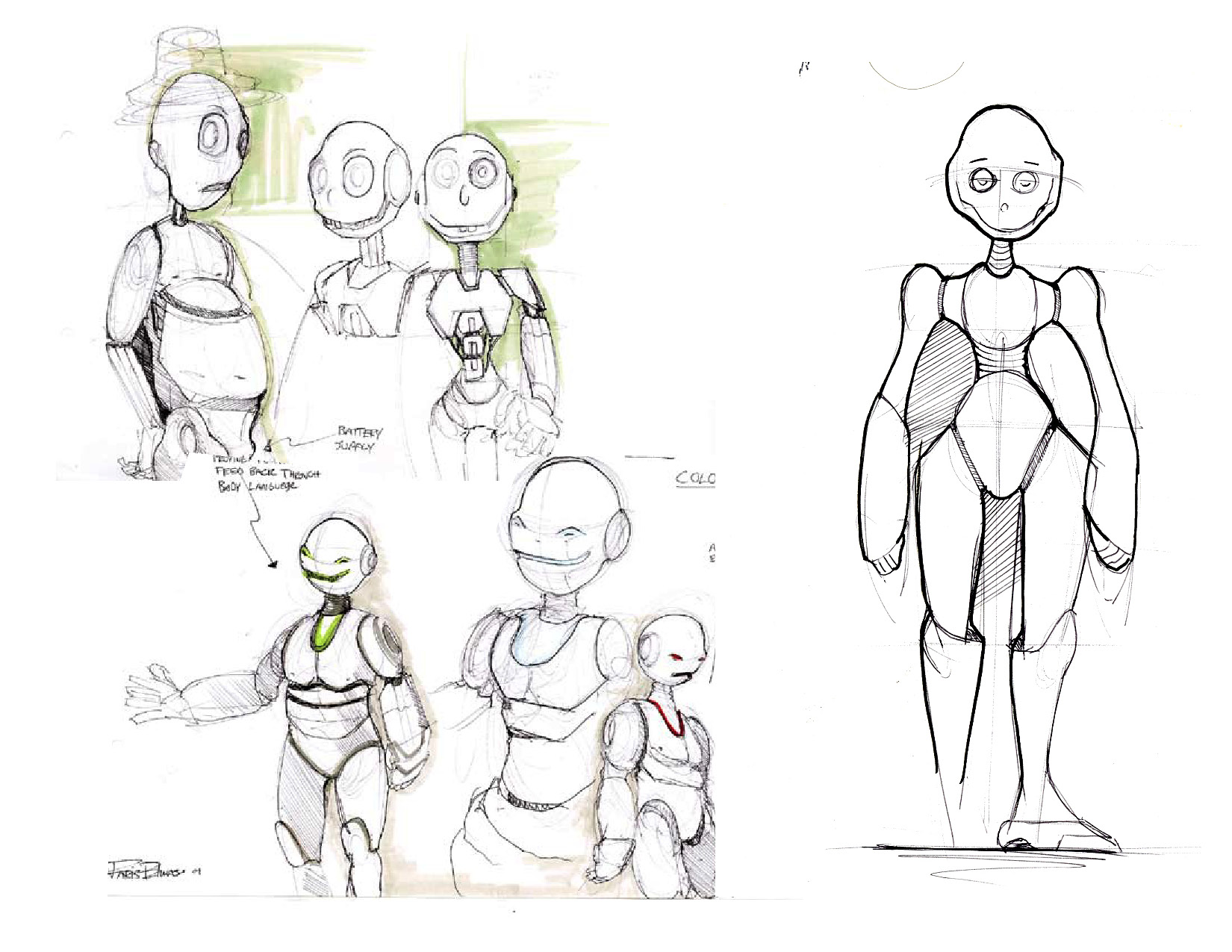Figure Drawing Characters Marker Sketch