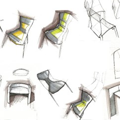 Chair Industrial Design Office Recliner Chairs Quick Sketches Lineweights