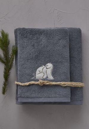 bain arctique gris pavé