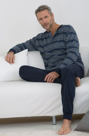 pyjama homme rayé bleu massana