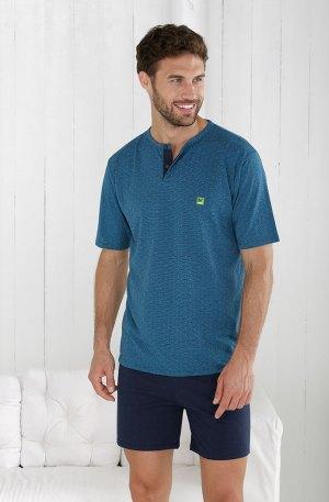pyjama homme turquoise