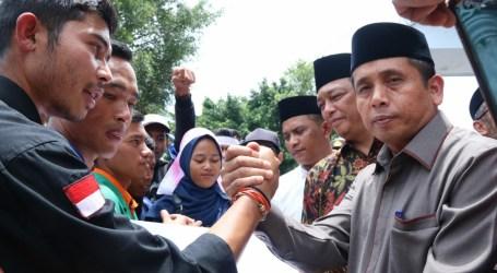 DPRK Aceh Tengah Tampung 6 Poin Tuntutan Mahasiswa dalam Demo Tolak RUU