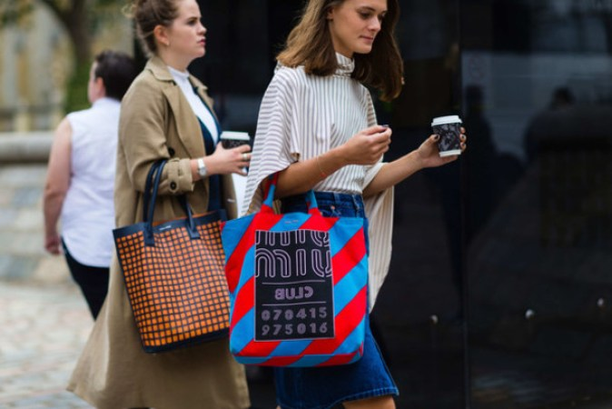 uqjmex-l-610x610-bag-fashion+week+street+style-fashion+week+2016-fashion+week-printed+bag-miu+miu-tote+bag-striped-stripes-asymmetrical-asymmetrical-denim+skirt-skirt--blue+skirt-midi+sk