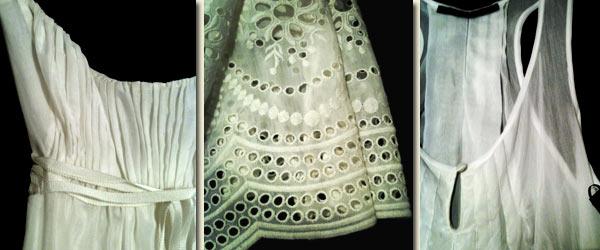 Helen Sanchez eyelet embroidery details on silk/cotton voile