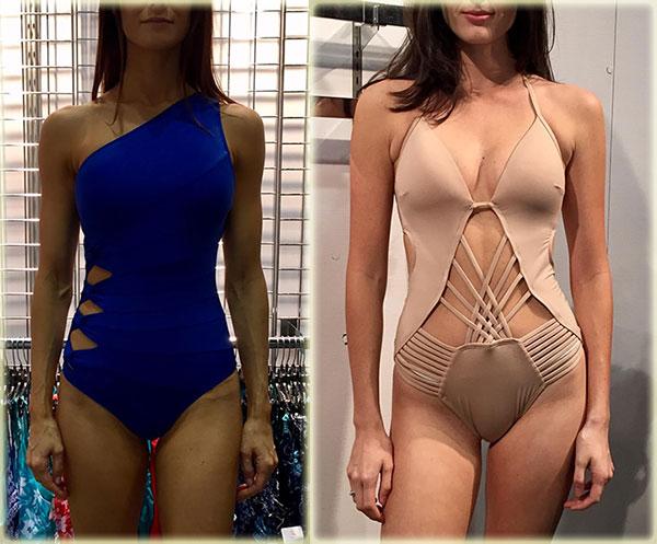 Carmen Marc Valvo & Kenneth Cole Swimwear on Lingerie Briefs
