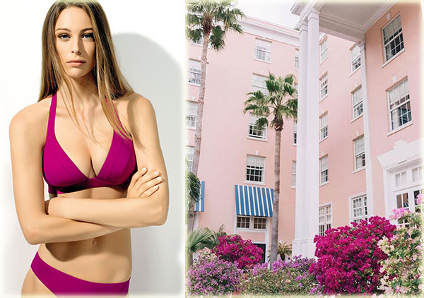 Lou Lingerie Istres bikini and Palm Beach scene on Lingerie Briefs