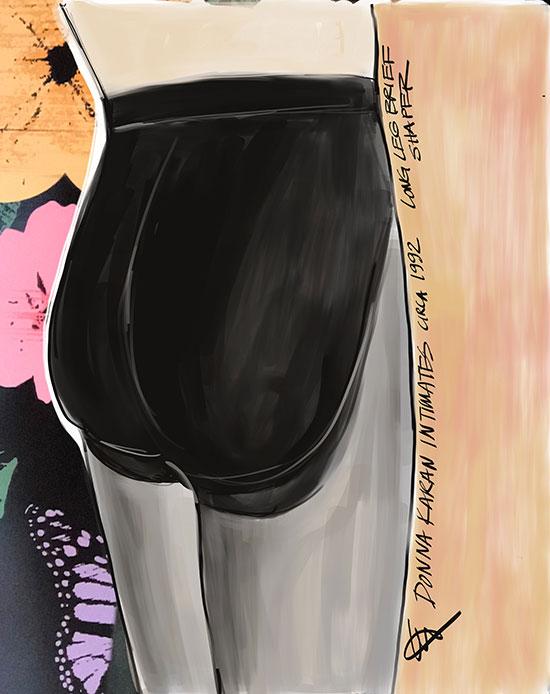 Original Art by Tina Wilson on Lingerie Briefs