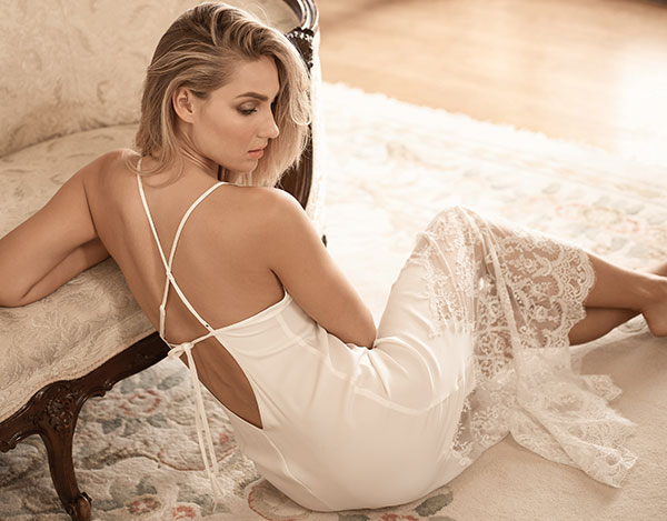 Georgina Ivory bridal slip from NKiMode on Lingerie Briefs