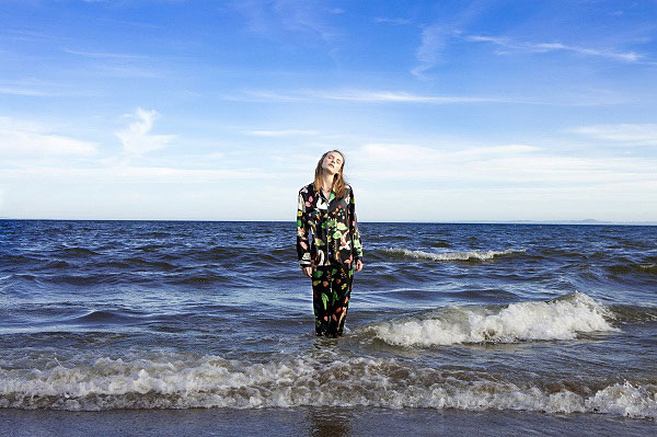 Karen Mabon Silk Pajamas on Lingerie Briefs