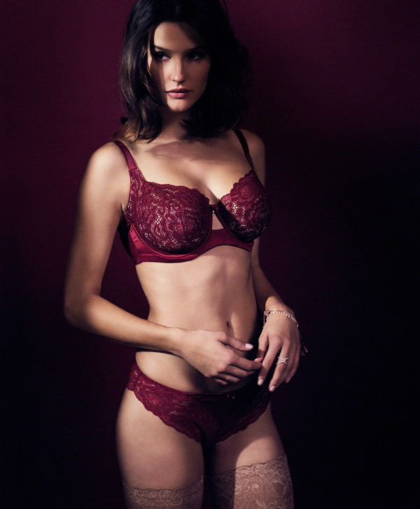 Shades of Red Quinn bra/panty collection - Panache
