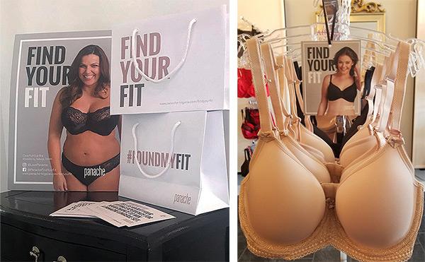 Panache #FindYourFit marketing campaign on Lingerie Briefs