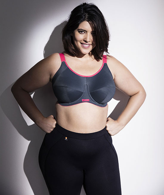 Elomi Plus size Sports Bra on Lingerie Briefs