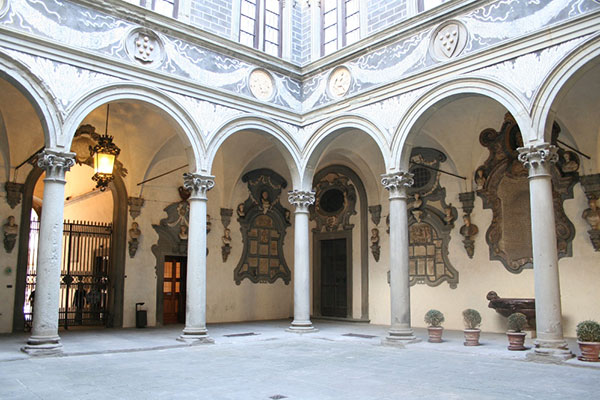 Library by Brunelleschi in Florence Italy