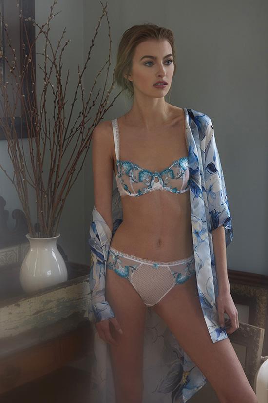 Aubade Bra & Brief ~ Christine Silk Kimono photographed by Stephanie Hynes