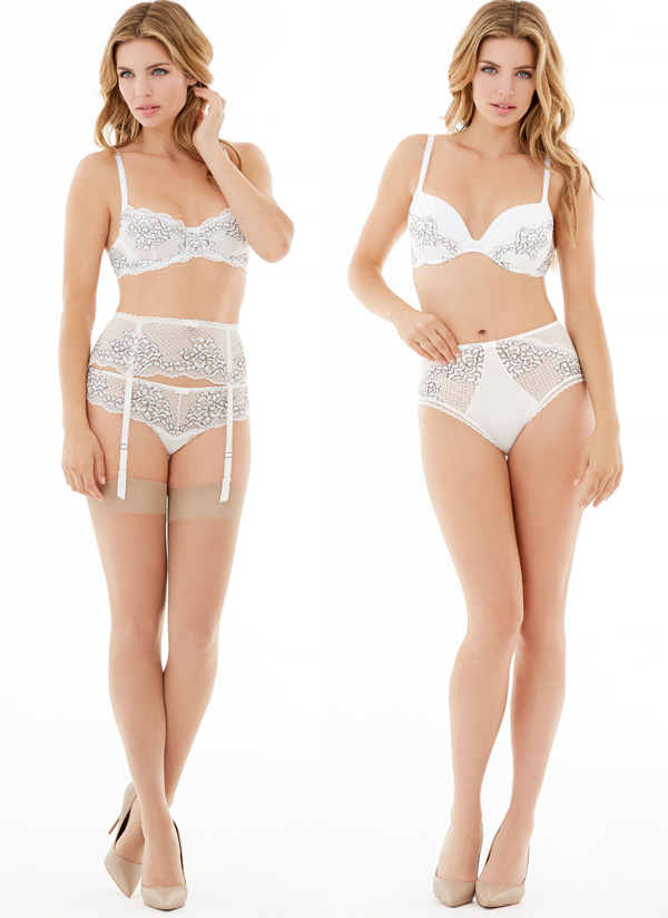Flirt Demi Lace Underwire Bra and Allure Light Pushup by Montelle Intimates - seen on Lingerie Briefs