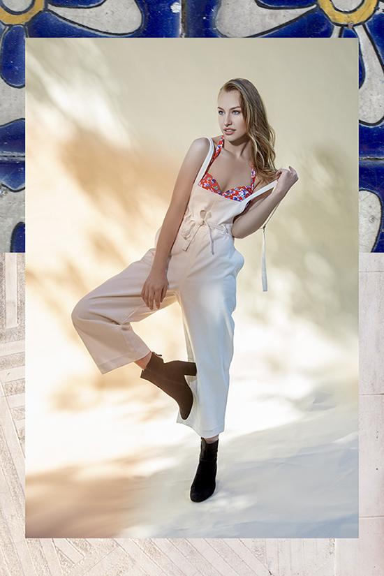 Rosa Faia bikini top, Mod Ref overalls on Lingerie Briefs