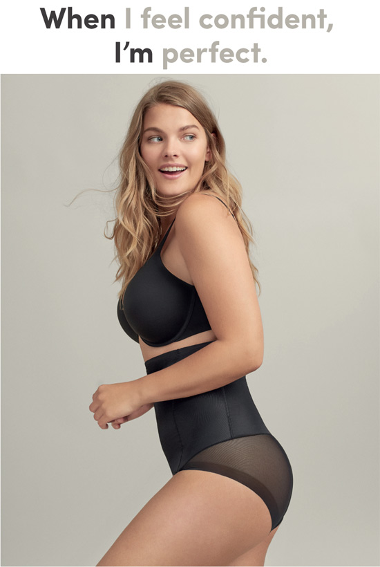 Janira campaign - When I feel confident, I'm perfect... featured on Lingerie Briefs