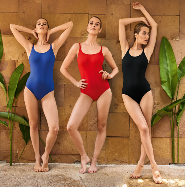 2019 Rosa Faia Beautiful tank one piece swimsuits in rich, solid colors are so flattering on every figure. featured on Lingerie Briefs