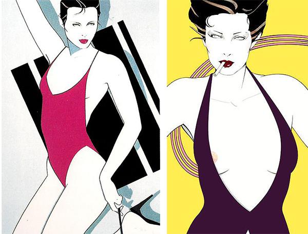 Patrick Nagel Art featured on Lingerie Briefs