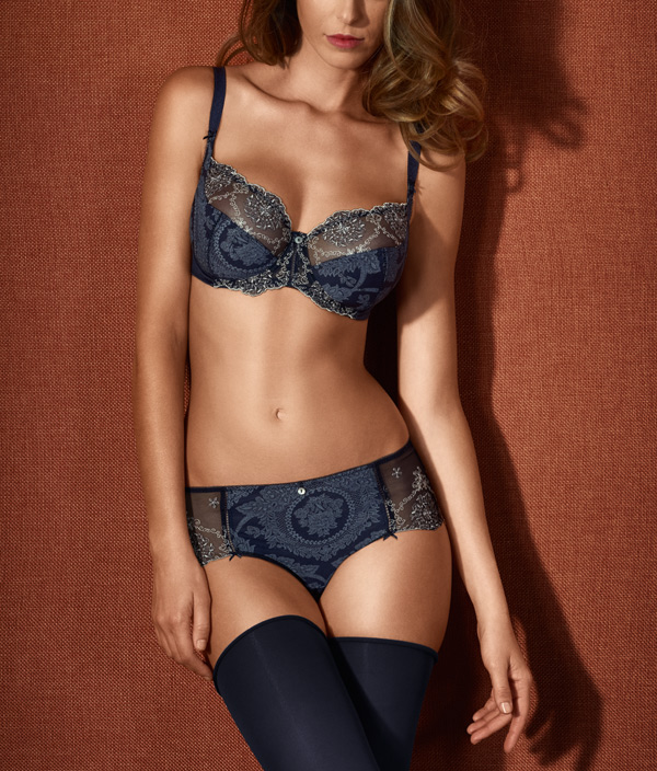 Empreinte Lily Rose Collection in new color - Bleu Astral featured on Lingerie Briefs