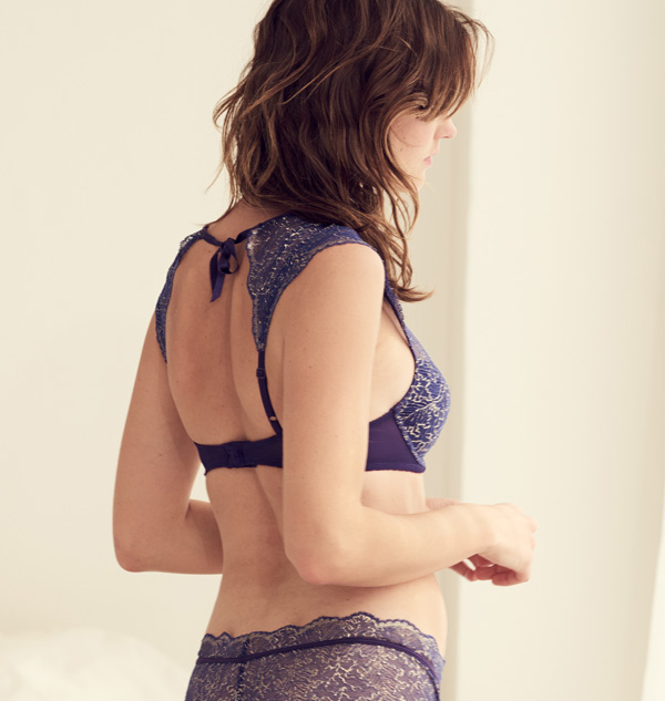 AFTER HOURS BRA TOP by b.tempt'd in Parachute Purple Lurex featured on Lingerie briefs