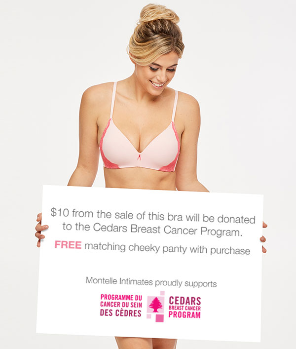 Montelle Intimates Cedars Breast Care Program on Lingerie Briefs