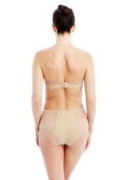 wearing strapless wireless bra