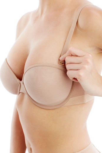 wearing strapless wireless bra