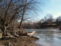 The Shenandoah River in the winter.