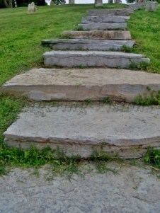 The steps leading up to the graveyard at Harpers Ferry W. Va.