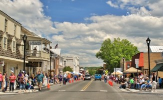 Downtown Strasburg just before the annual Mayfest parade.