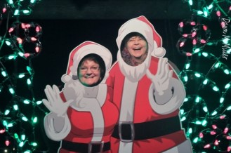 My friend and I as Santa and Mrs. Claus