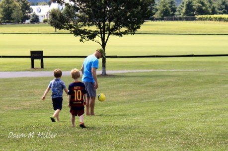 Soccer Players at King Family Vineyards