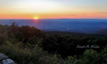 Sunset on Skyline Drive in the same place I shot last week
