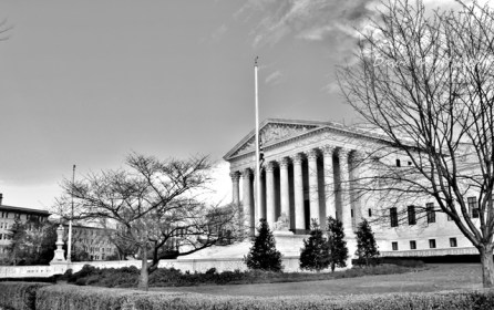 Supreme Court Building in bNw