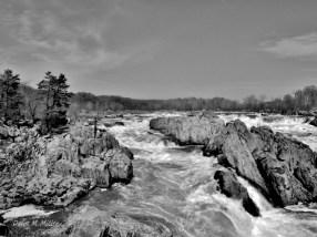 Potomac River rocks at Great Falls, Virginia
