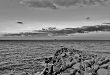 Chesapeake Bay jetty rocks