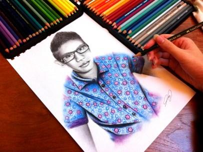 Ashraf Malique Drawing by Ling McGregor