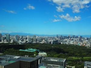 皇居と富士山
