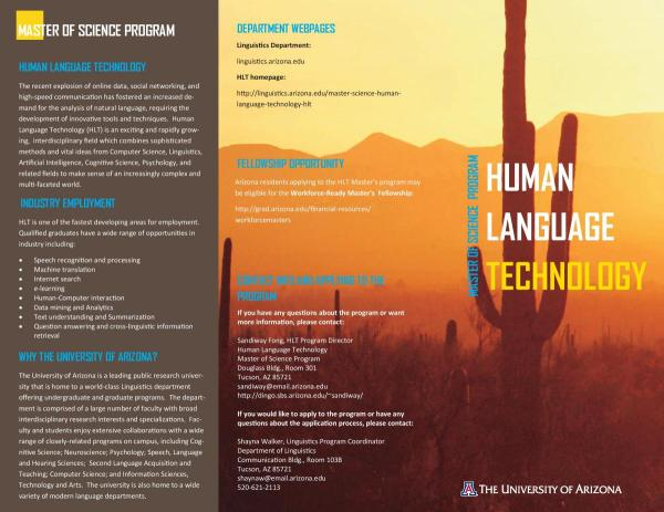 Master Of Science In Human Language Technology Hlt