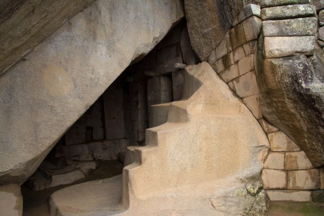 Some of the intricate stone fitting at Machu Picchu
