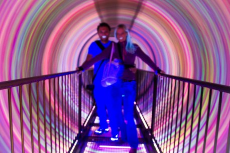Inside a tunnel of spinning lights that nearly made me lose my lunch