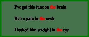 Артикли с частями тела